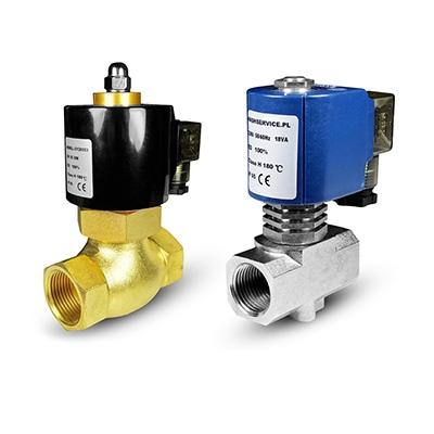 Vroča voda in magnetni ventili za vodo 180 ° C
