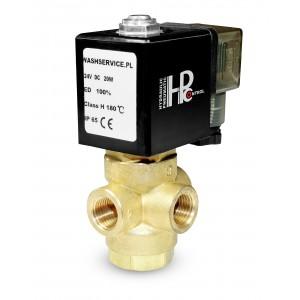 3-smerni magnetni ventil 3V 3x1 / 4 palčni 230V 24V 12V