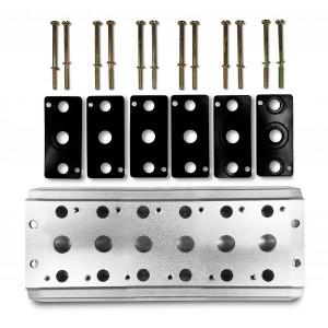 Kolektorska plošča za priključitev 6 ventilov 1/4 serije 4V2 4A skupina ventilov ventil 5/2 5/3
