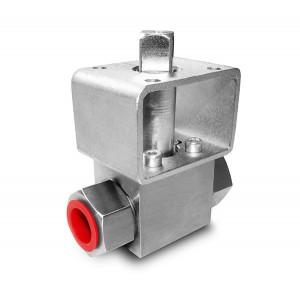 Visokotlačni krogelni ventil 1/4 palčni SS304 HB22 pritrdilna plošča ISO5211