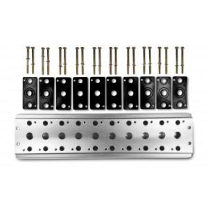 Kolektorska plošča za priključitev 10 ventilov 1/4 serije 4V2 4A skupina ventilov terminal 5/2 5/3