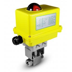 Visokotlačni krogelni ventil 1/4 palčni SS304 HB22 z električnim aktuatorjem A250