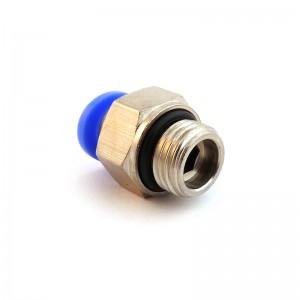 Priključna ravna cev 12 mm navoj 1/4 palca PC12-G02