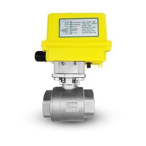 Krogelni ventil iz nerjavečega jekla 1 1/4 palčni DN32 z električnim aktuatorjem A250