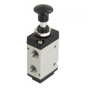 Ročno stisnjen ventil 5/2 4L210 1/4 palca za pogone
