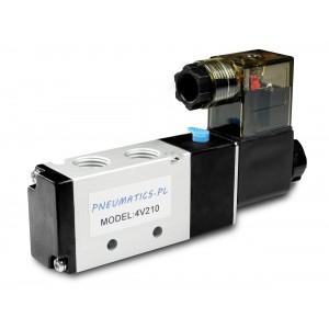 Solenoidni ventil na pnevmatske jeklenke 4V210 5/2 1/4 230V 12V 24V
