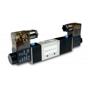 Elektromagnetni ventil 4V230C 5/3 1/4 palca za pnevmatske jeklenke 230V ali 12V, 24V