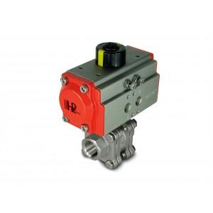 1/2 palčni visokotlačni krogelni ventil DN15 PN125 s pnevmatskim aktuatorjem AT40