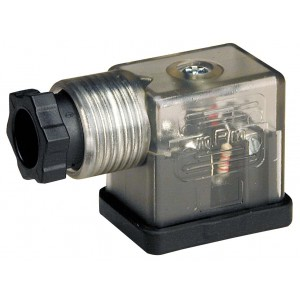 Priključite na magnetni ventil DIN 43650B z LED - majhno