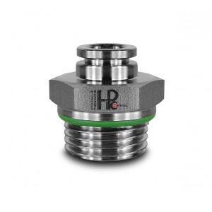 Vtičnica navojna ravna cev iz nerjavečega jekla 8 mm navoj 1/2 palčni PCS08-G04