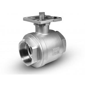 Krogelni ventil iz nerjavečega jekla 1 1/2 palčni nosilec DN40 ISO5211