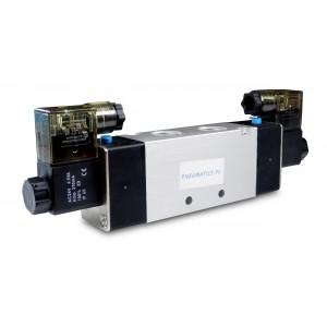 Elektromagnetni ventil 4V220 5/2 1/4 palca za pnevmatske jeklenke 230V ali 12V, 24V