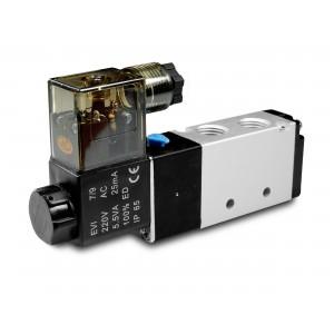 Elektromagnetni ventil 5/2 4V410 1/2 palca za pnevmatske jeklenke 230V ali 12V, 24V