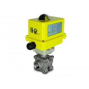 Visokotlačni krogelni ventil 1 palčni DN25 PN125 aktuator A250