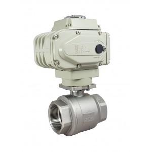 Krogelni ventil iz nerjavečega jekla 1 1/2 palčni DN40 z električnim aktuatorjem A500