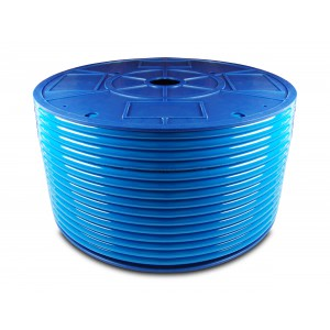 Poliuretanska pnevmatska cev PU 6/4 mm 200m modra