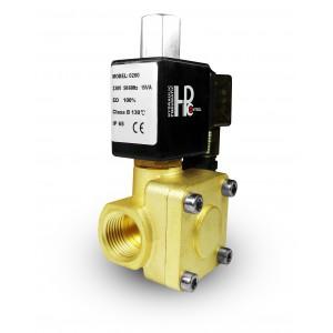 Solenoidni ventil 2K25 odprt NO 1 palčni 230V ali 12V 24V