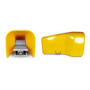 Nožni ventil, zračna pedala 5/2 1/4 za valj 4F210LG - bistasta s pokrovom