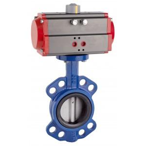 Lepilni ventil, dušilec DN80 s pnevmatskim aktuatorjem AT75