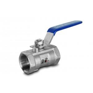 Krogelni ventil iz nerjavečega jekla 1/2 palčni DN15 z ročno ročico - 1 kos