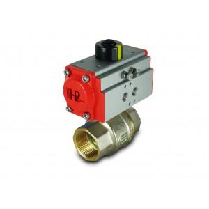 Medeninasti krogelni ventil 1 1/2 palčni DN40 s pnevmatskim aktuatorjem AT52