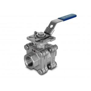 1/2 palčni visokotlačni krogelni ventil DN15 PN125